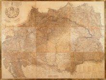 Ludwig von Schedius: Landkarte von Ungarn, Mitte des 19. Jahrhunderts