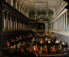 Martin van Meytens and studio: 'Carousel in the Winter Riding School of the Hofburg on 2 January 1743', mid...