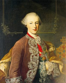 Martin van Meytens (attr.): Joseph II as young emperor and co-regent, c. 1765, oil painting