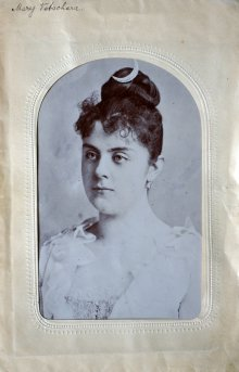 Mary Vetsera with a crescent moon hairpin, photograph
