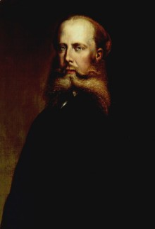 August Schoefft: Maximilian of Mexico, oil painting