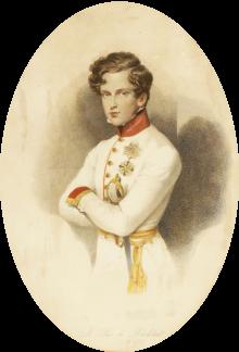 Napoleon Franz Bonaparte, Duke of Reichstadt, etching