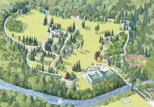 Plan der Gesamtanlage der Kaiservilla in Ischl
