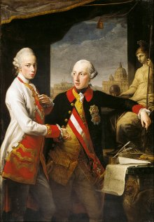 Pompeo Batoni: Joseph II and his brother Leopold, Grand Duke of Tuscany, in Rome, oil painting, 1769