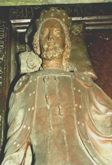 Rudolf IV, recumbent figure from the tomb of Rudolf IV and Catherine of Bohemia, c. 1360