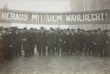 Rudolf Lechner: Großdemonstration in Wien für ein allgemeines Wahlrecht, Fotografie, 28. November 1905