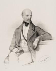 Erzherzog Johann. Lithografie nach Zeichnung von Josef Kriehuber, 1848