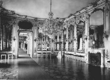 Hall of Mirrors in the former Ceremonial Apartments of the Hofburg with a view of the succeeding rooms in t...