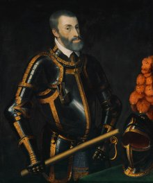 Tiziano Vecellio (Titian): Emperor Charles V in armour, mid-16th century
