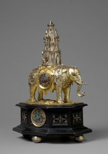 Tobias Kramer: Automaton clock in the form of an elephant with a tower, Augsburg, c. 1620/25