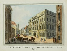 Tranquillo Mollo: Stich der k.k. privilegierten Nationalbank, um 1825