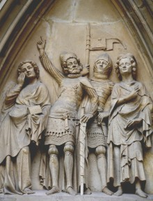Tympanon in the portal of the Minoritenkirche in Vienna, c. 1340/50