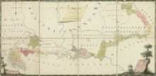 Synoptic map of the entire Military Frontier, coloured drawing, 1800