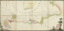 Übersichtskarte über die gesamte Militärgrenze, gezeichnetes Blatt, koloriert, 1800
