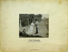 'Our imperial couple as happy newly-weds', Franz Joseph and Elisabeth in the gardens at Schönbrunn, print