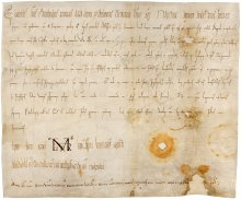 Charter issued by Emperor Otto III, first recorded appearance of the designation 'Ostarrîchi' (2nd line, 3rd …