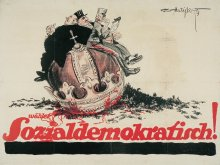 Election poster of the Social Democratic Party for the constitutive National Assembly on 16 February 1919