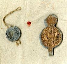 Merchandise seal of the Linz Manufactory for Woollen Wares