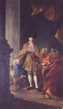 Studio of Court Painter Martin van Meytens: Joseph II in the Spanish *Mantelkleid*, oil painting, 1764/70