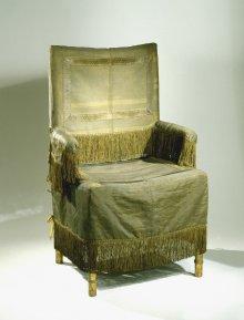 Zusammenklappbarer Reisethron, um 1780