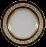 Anton Kothgasser (Vienna Porcelain Manufactory): Plate with 'antique' border framed in cobalt blue, 1795