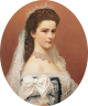 Georg Raab: Elisabeth as Queen of Hungary, oil painting, 1867