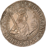 Silver coin, 1495, with an image of Maximilian I