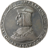 Silver coin, 1518, with an image of Emperor Maximilian I