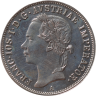 Silver 20 kreuzer coin, 1852, with an image of Emperor Franz Joseph