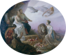 Sophie Görlich: Allegory on the betrothal of Crown Prince Rudolf and Stephanie of Belgium, oil on canvas, 1881