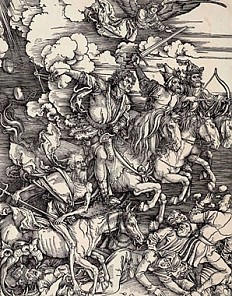 Albrecht Dürer: The Four Horsemen of the Apocalypse, woodcut, 1497/98