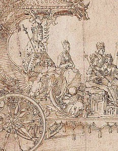 Albrecht Dürer: Design for the Great Triumphal Car, c. 1516/17, pen and brown ink