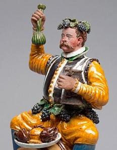 Christoph Gandtner: 'Glutton on a Barrel' (novelty vessel), c. 1580/90