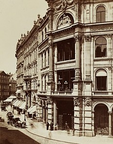 Department store owned by Philipp Haas & Söhne, c. 1890
