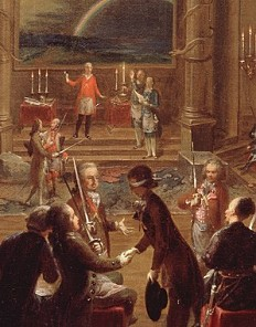 The Vienna Masonic lodge 'Zur gekrönten Hoffnung', c. 1785
