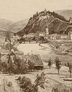 Eduard Zetsche: 'Present-day Graz', illustration, 1890