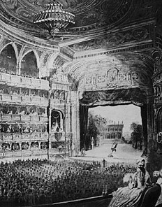 Opening performance in the new Court Opera of *Don Juan*, view of the interior looking towards the stage, 25 …