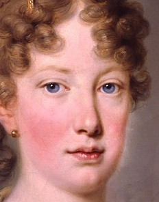 Archduchess Leopoldine, daughter of Emperor Franz II (I) and later Empress of Brazil, oil painting, c. 1815