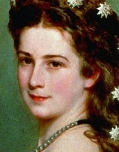 Franz Xaver Winterhalter: Empress Elisabeth in a ball gown with diamond star ornaments in her hair, oil pai...