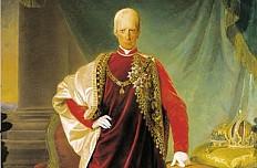 Friedrich von Amerling: Franz II./I. im Ornat des Ordens vom Goldenen Vlies, Ölgemälde, 1832