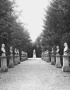 Photograph of the Avenue of Emperors at the Heldenberg, 1903