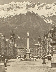 Innsbruck, tableau of photographic views, 19th century