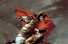 Jacques-Louis David: Napoleon am St. Bernhard, 1802/1803