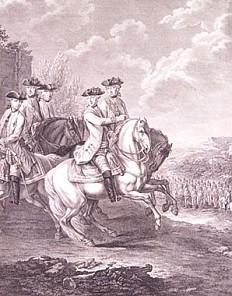 Joseph II. mit sieben seiner Generäle