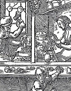 "Jost Amman: The Bellmaker (from ""Ständebuch""), 1568"
