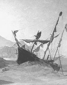 Julius von Payer: Kaiser Franz Joseph Land, the abandoned *Tegetthoff*, painting, 19th century