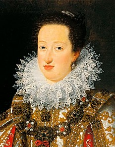 Justus Sustermans: Eleonora of Gonzaga, second wife of Ferdinand II, in her bridal gown, 1621, oil on canvas