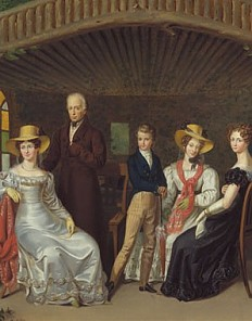 Leopold Fertbauer: The imperial family grouped around the Duke of Reichstadt, oil painting, 1826