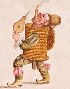 Lodovico Ottavio Burnacini: costume sketches: Nani e Maschere ridicole, c. 1680, watercolour and opaque col...