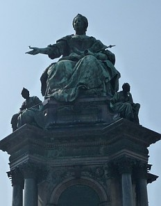 The monument to Maria Theresa in Vienna, erected between 1874 and 1888
